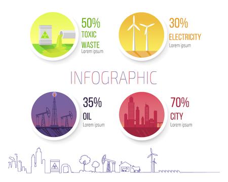 環境問題を扱うインフォグラフィックポスター