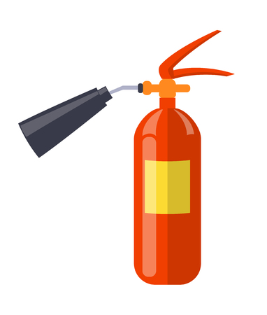Carbon Dioxide Extinguisher Isolated Illustration