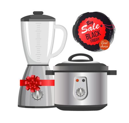 Sale day for appliance illustration.