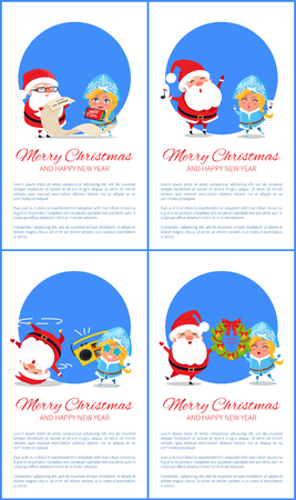 Christmas greeting card design concept. Illustration