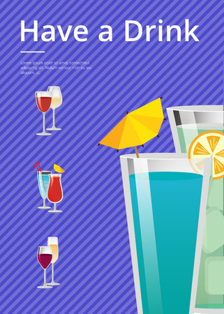 음료 모이 토와 민트 칵테일 여름 파티 일러스트