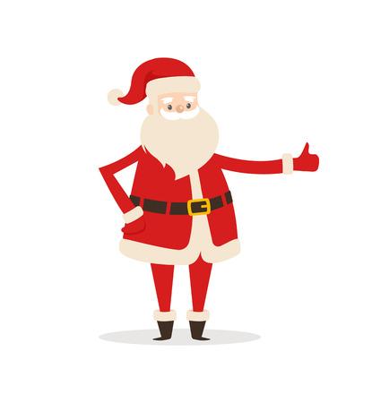 Santa Claus Cartoon Xmas Character Vector Icon Illustration