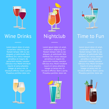 Time for Fun with Wine Drinks at Nightclub
