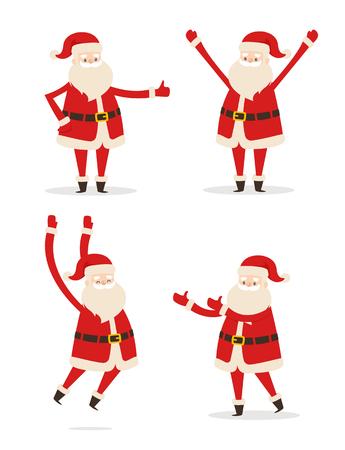 행복 산타 클로스 그림입니다. 일러스트