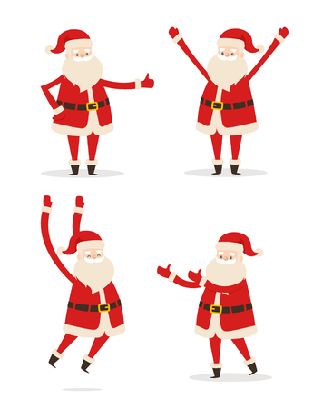 Happy Santa Claus illustration. Stock Illustratie