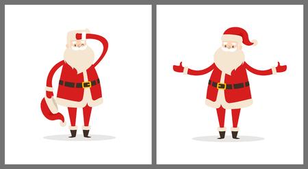 Happy Santa Claus icon. 向量圖像