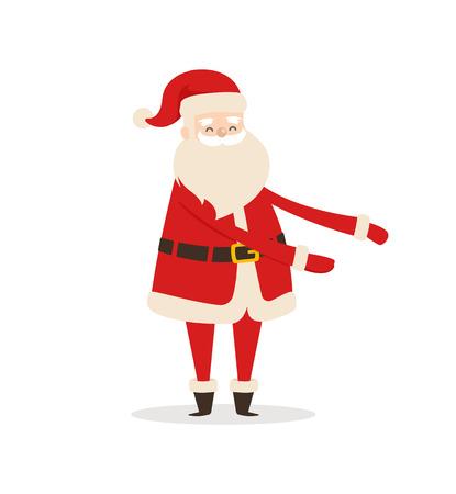 Santa Claus Cartoon Xmas Character Vector Icon Ilustração