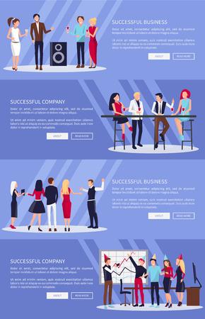 Successful Company  Business Vector Illustration