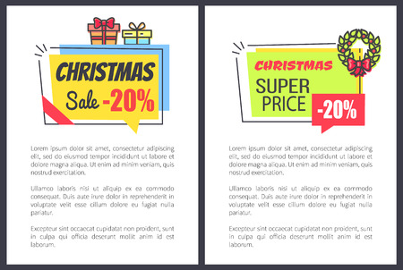 Christmas Sale 20 Off Promo Posters with Discount
