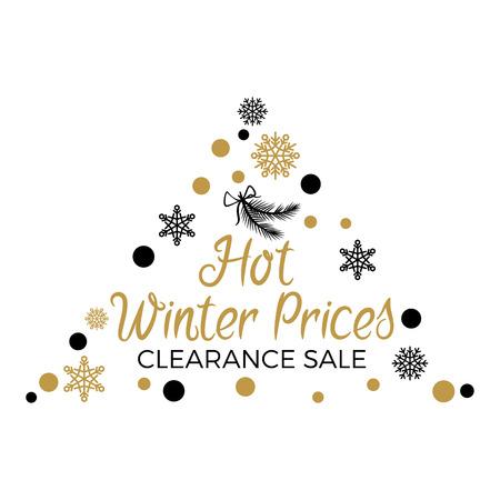 三角ラベル付きホット冬の価格クリアランス