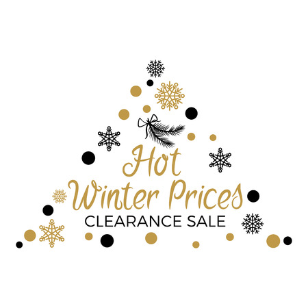 Hot Winter Prices Clearance with Triangular Label