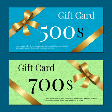 Gift Cards on 700 500 Set of Posters Gold Ribbons