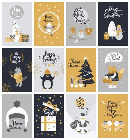 12カラフルなクリスマスの写真のコレクション