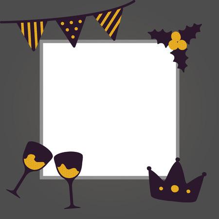 新年おめでとうポスターベクトルイラスト  イラスト・ベクター素材