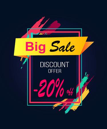 Big Sale Discount Offer -20 in Rectangular Frame