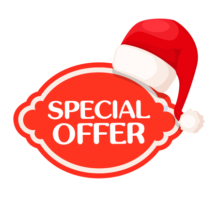 Special Offer red Label under Santa Claus Hat