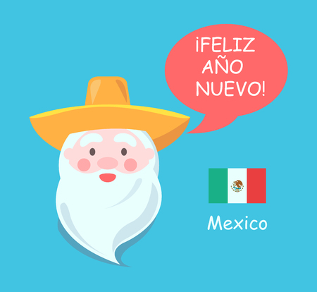 Mexican Santa Claus icon.