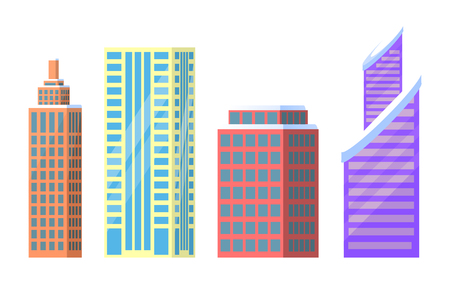 Tall buildings icon. Illustration