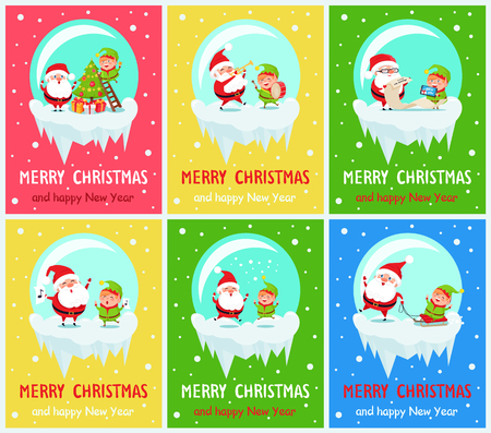 Merry Christmas banners. Illustration