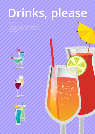 Drinks, please banner. Ilustrace
