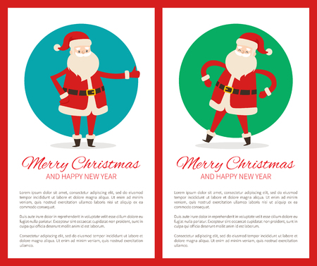 Merry Christmas and Happy New Year banners.