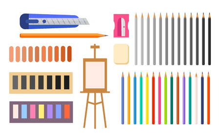 Collection of Art supplies icon.