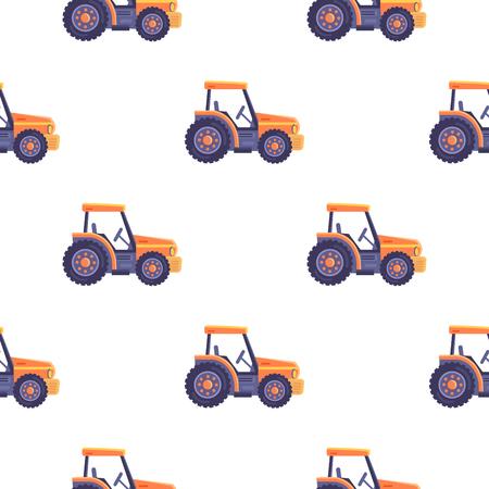 Excavator Tractor Vehicle Seamless Pattern Texture