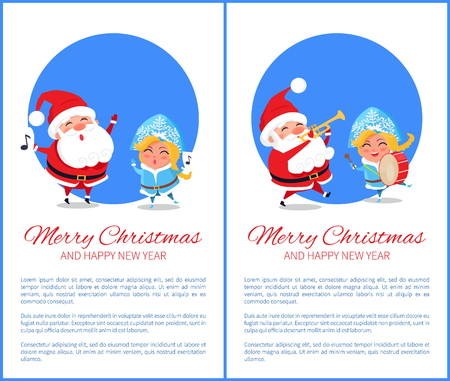 Merry Christmas Text and Image Vector Illustration Stock Vector - 92107409