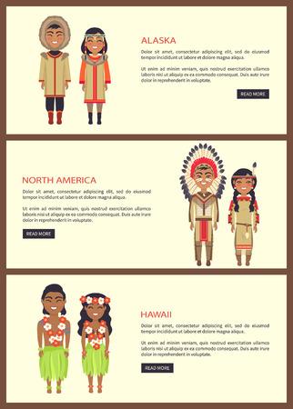 Alaska and North America Web Vector Illustration Иллюстрация