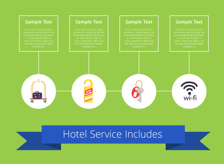 Hotel Service Includes on Vector Illustration
