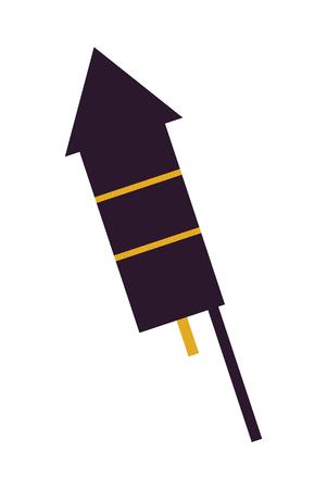 Dark Firework Rocket Icon Vector Illustration Illusztráció