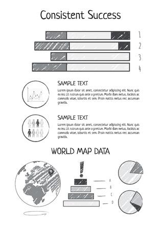 一貫した成功統計ベクトル図  イラスト・ベクター素材