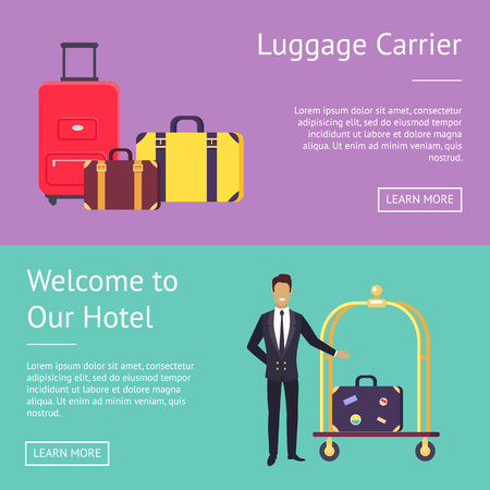 Welcome to Our Hotel Luggage Carrier Greeting