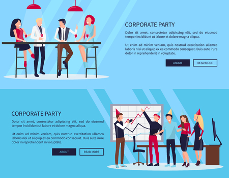 Celebration of Success on Vector Illustration