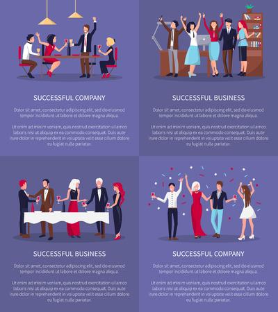 Successful Company, Business Vector Illustration