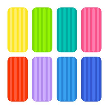 Colorful clay icons. Ilustração