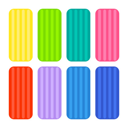 Colorful clay icons. Illustration