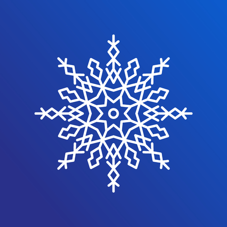 Snowflake icon. Illustration