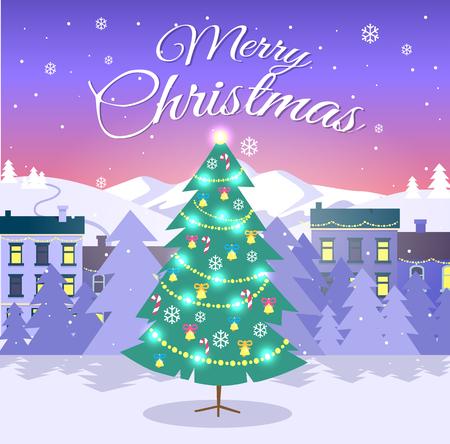 メリークリスマスのバナー