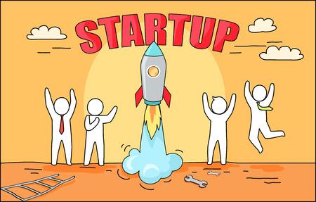 Startup big of rocket launching