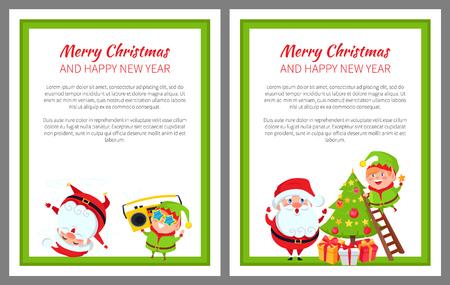 Merry Christmas Wintertime Vector Illustration Illustration
