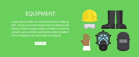 Equipment Advertising web Banner Vector Illustration. Illustration
