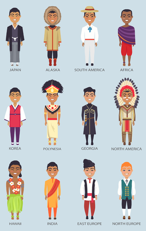 Japan and Korea Set of Icons Vector Illustration