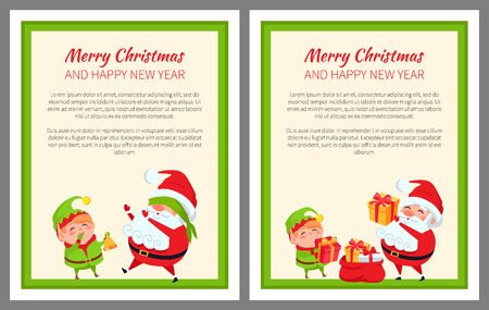Merry Christmas And Happy New Year Cards Royalty Free Cliparts ...