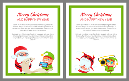 Merry Christmas List of Gifts Vector Illustration