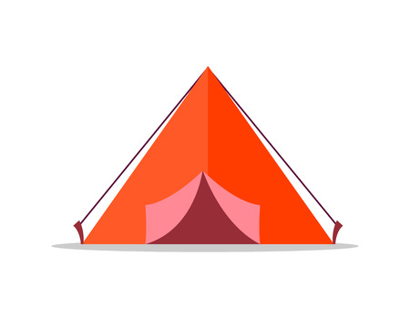 Red Tent Isolated Illustration on White Background