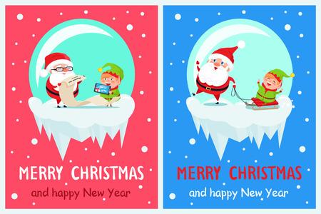 Joyeux Noël liste de cadeaux Vector Illustration Banque d'images - 92175791