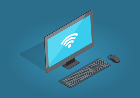 Wireless Connection Computer Accessories Cartoon