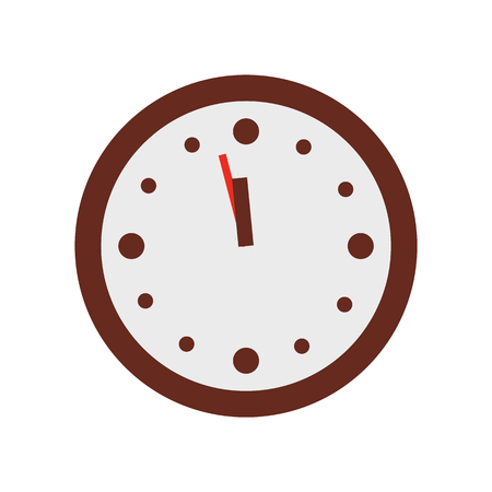 Christmas Clock Show Few Minutes to Twelve Vector Ilustrace