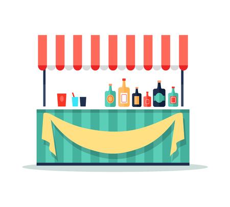 Colorful Beverage Booth Icon  Illustration. Illustration